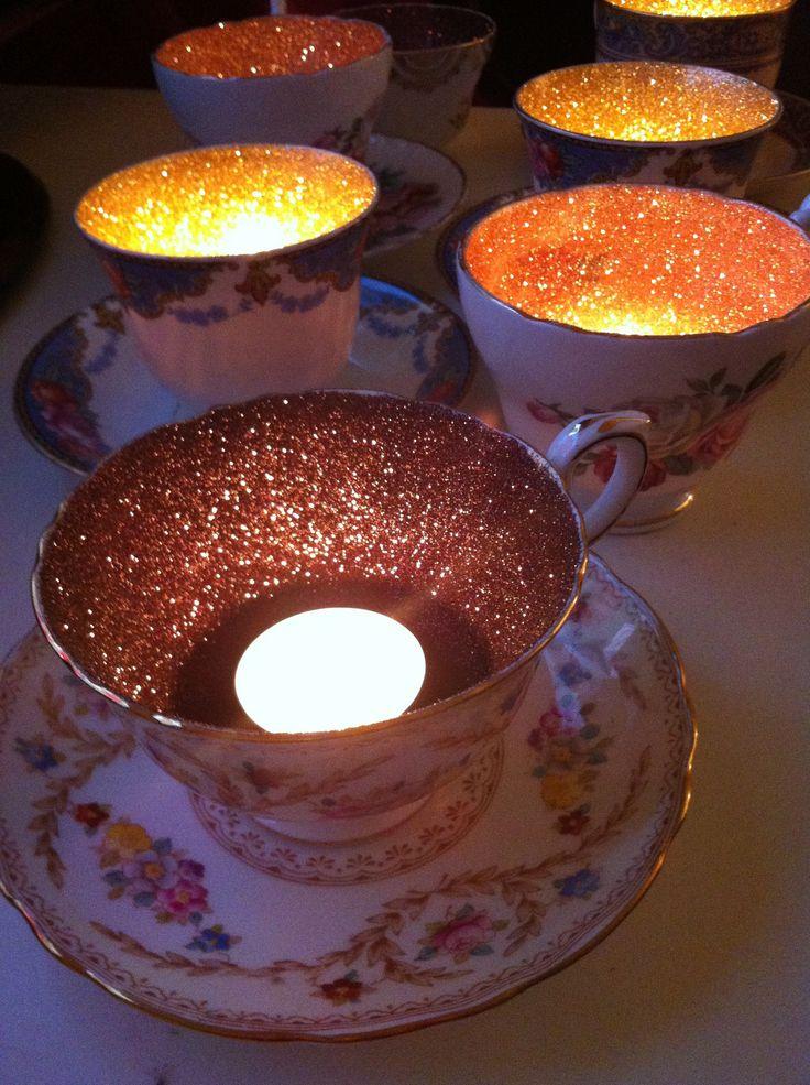 Glitter teacups 2014